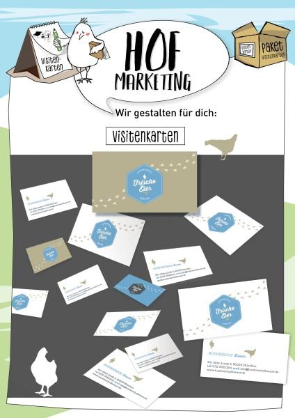 Wir gestalten Ihre Visitenkarten - Hofmarketing