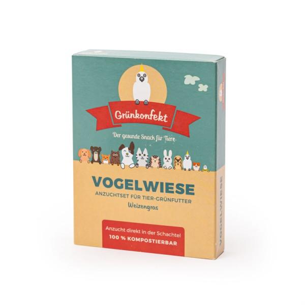 Grünkonfekt Vogelwiese – Anzucht-Set (Weizengras) für Federtiere & Fellnasen