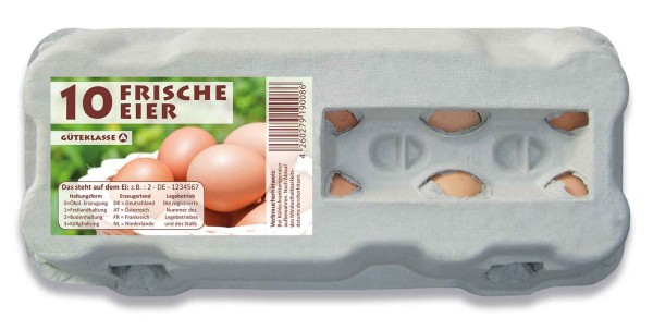 """510 Stück 10er Eierschachteln """"Frische Eier"""" im Vorteilspaket"""