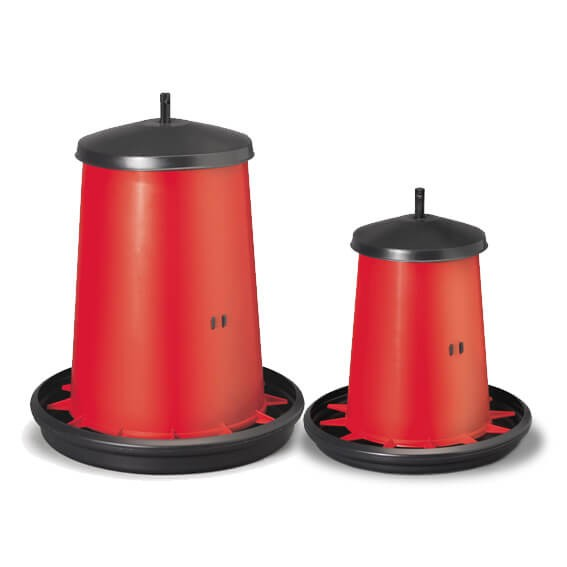 Futterautomat 5 kg / 18 kg rot, stufenlos verstellbar
