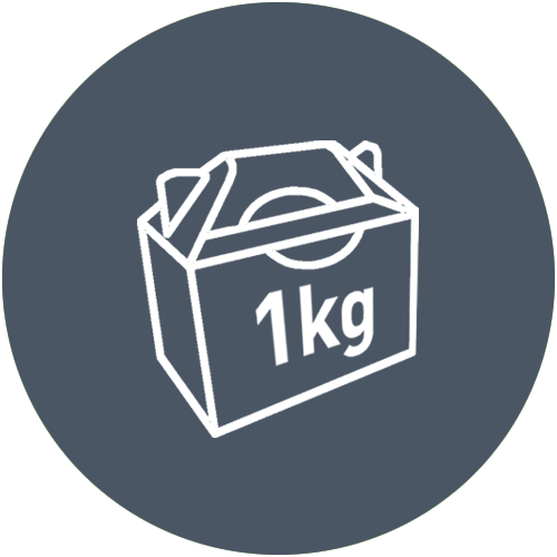 1kg Boxen