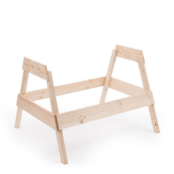 Gestell für hochwertige Holzlegenester in bester Schreinerqualität