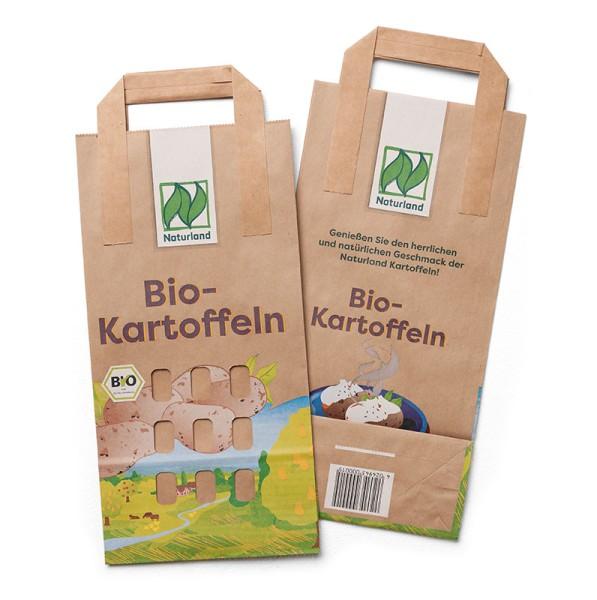 "Kartoffel-Papiertragetasche ""Naturland"" 2 kg 250 Stück"