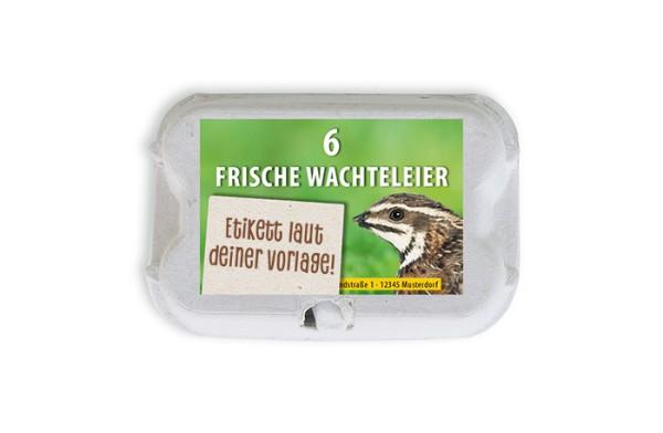 6er Wachtel-Eierschachtel-Etiketten laut deiner Druckvorlage