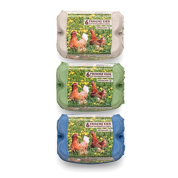 6er ComPac mit Freiland-Etikett – 450 Stück im Vorteilspaket