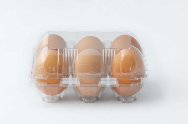 960 Stück 6er PET Eierschachteln