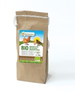 Körnermischung aus Getreideschrot Bio-Hühnerfutter, 500 g Beutel
