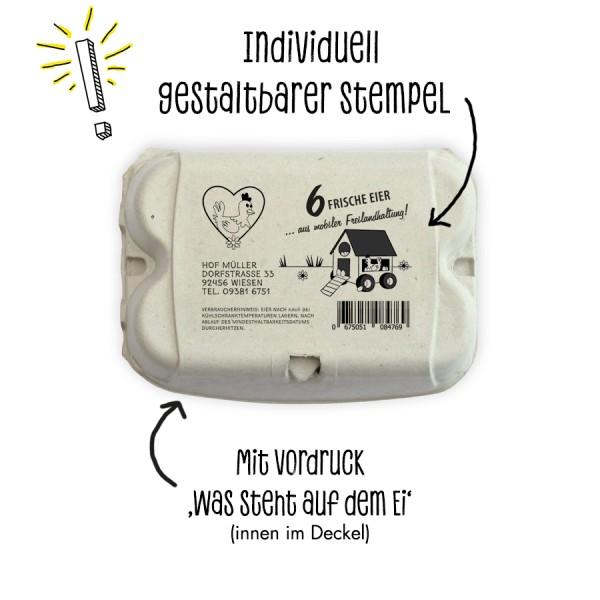 Stempel für Eierschachteln, 6er ComPac, GreenPack und EcoPack