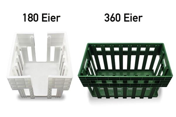 Drehstapelkörbe für Eierhorden für 180 bzw. 360 Eier