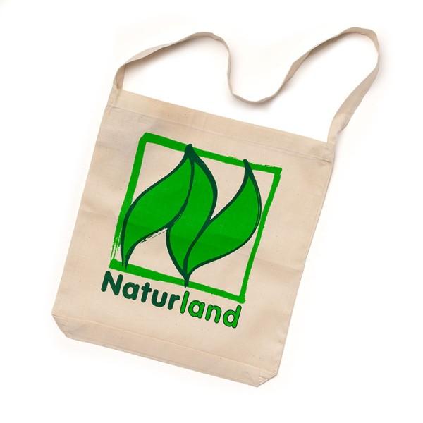 Stoff-Tragetasche – 100 % faire Baumwolle mit Naturland-Logo 10 Stück