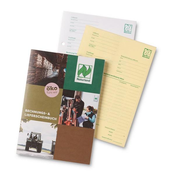 Rechnungs-/Lieferscheinblock – mit Naturland-Logo, übersichtlich gestaltet