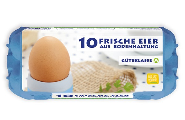 HappyPack 10er Eierschachtel Bodenhaltung Vorteilspaket mit 360 Stück blau