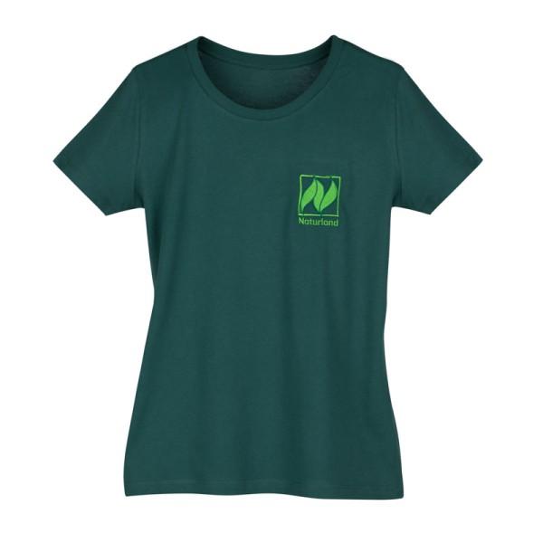 Naturland T-Shirt slimfit, grün – mit Naturland Logo