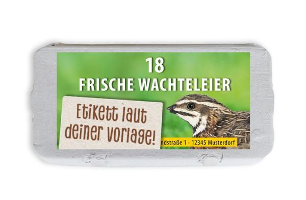 18er Wachtel-Eierschachtel-Etiketten laut deiner Druckvorlage