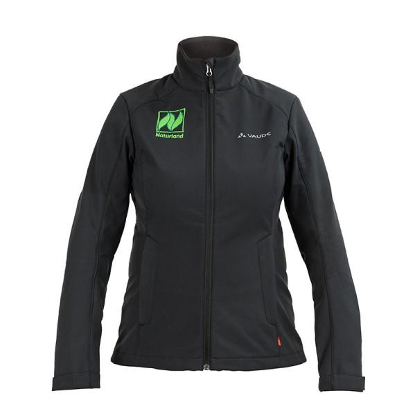 Damen Softshell-Jacke – 100 % winddicht, mit Naturland-Logo