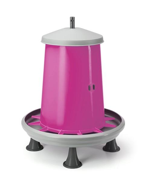 Futterautomat 5 kg mit Füßen pink