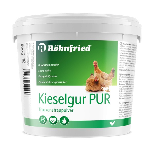 Röhnfried Kieselgur PUR - Kieselgurpulver zur Anwendung im Hühnerstall