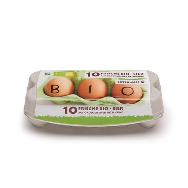 ComPac 10er Eierschachtel mit Etikett Biohaltung 1 Stück