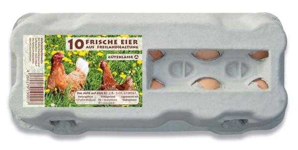 510 Stück 10er Eierschachteln Freiland im Vorteilspaket
