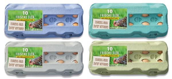 510 Stück 10er Eierkartons mit eigenem Etikett im Vorteilspaket