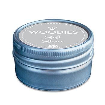 Stempelkissen-Dose für Woodies-Stempel Softstone / Grau