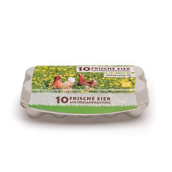 ComPac 10er Eierschachtel mit Etikett Freilandhaltung 1 Stück