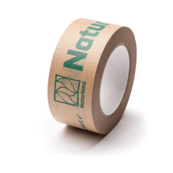 Papier-Selbstklebeband – mit Naturland Logo und Aufschrift 6 Rollen