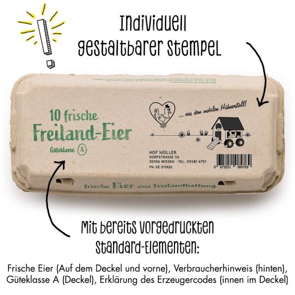 Stempel für Eierschachteln, 10er + 6er Ecopack