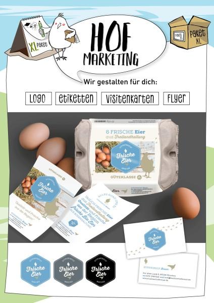 """Wir gestalten dein Logo, Etiketten, Visitenkarten und Werbeflyer (2/4/6-seitig) - im Set """"XL-Paket"""""""