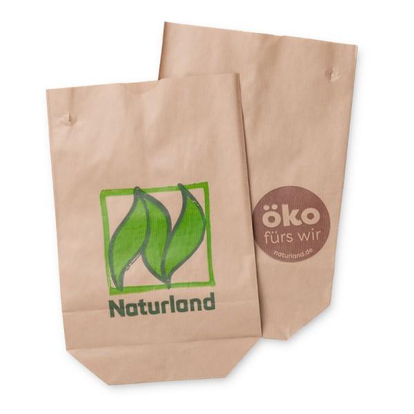 """Bodenbeutel """"Naturland"""" 2,5 kg – für loses Obst, Gemüse etc. 500 Stück"""