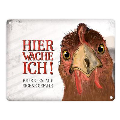 Blechschild Huhn