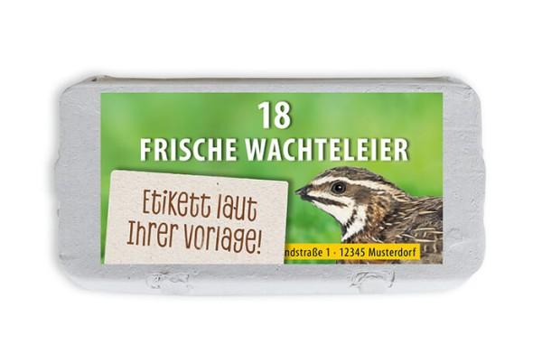 18er Wachtel-Eierschachtel-Etiketten laut Ihrer Druckvorlage